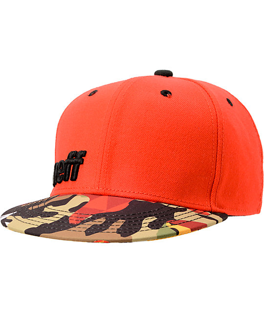 Neff Daily Orange & Camo Snapback Hat
