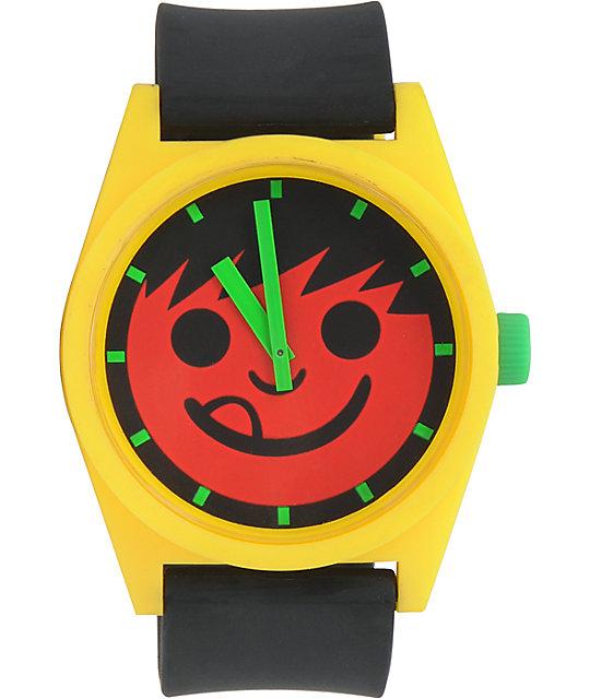 Neff Daily Rasta Smiley Analog Watch