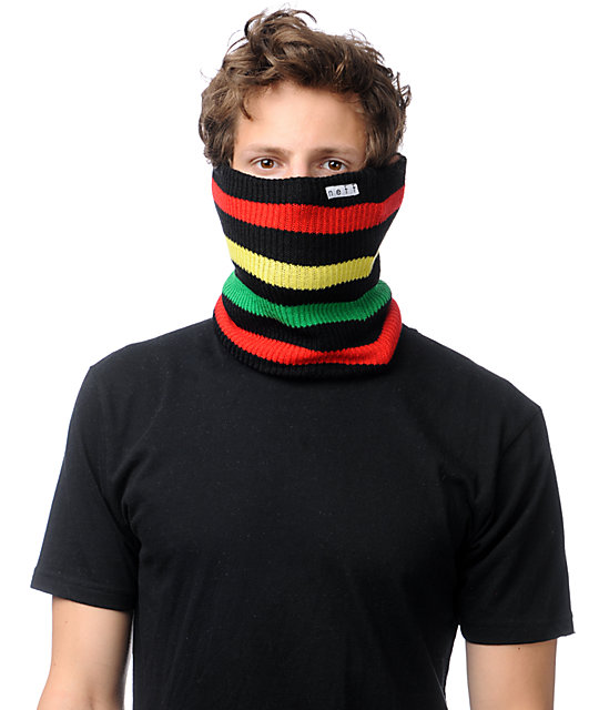 Neff Daily Rasta Striped Neck Gaiter