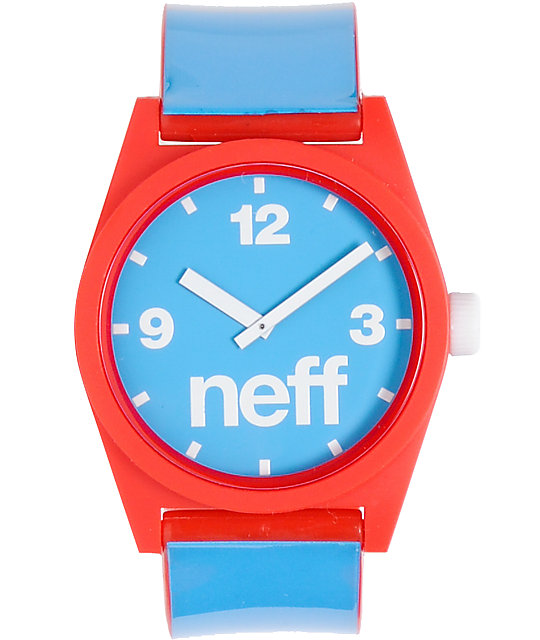 Neff Daily Red, White & Blue Analog Watch
