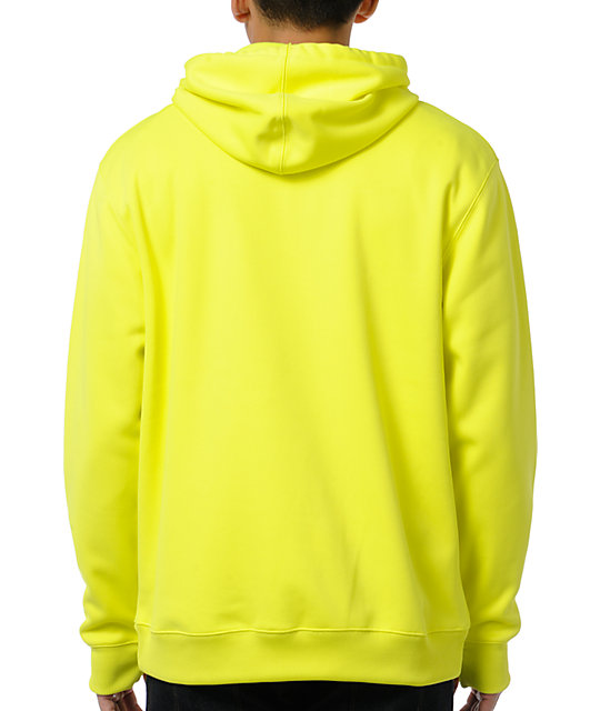 Neff Daily Shred Tennis Yellow Zip Up Tech Fleece Jacket