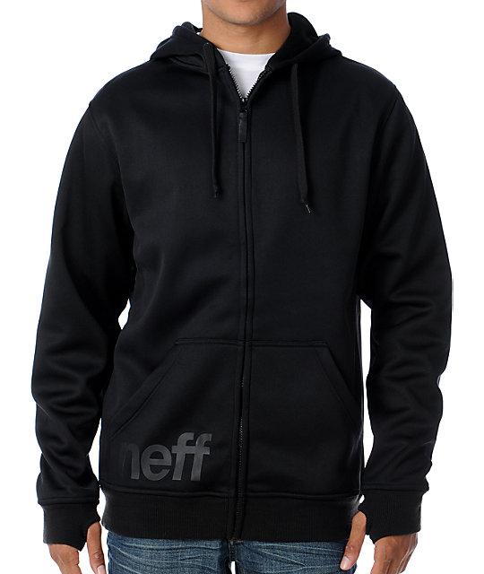 Neff Daily Shredder Black Mens Tech Fleece Jacket