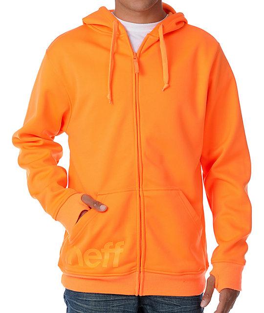 Neff Daily Shredder Orange Tech Fleece Jacket
