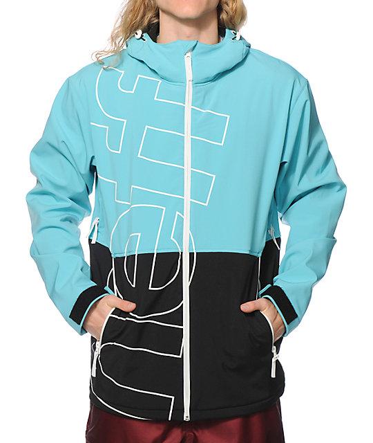 Neff Daily Teal & Black 10K Softshell Snowboard Jacket