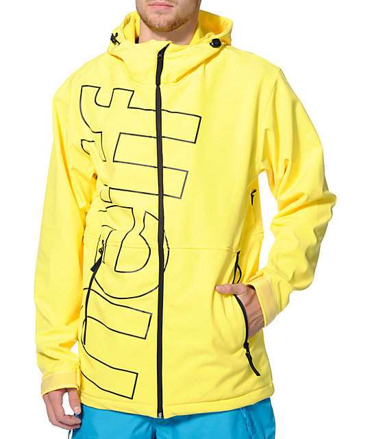 Neff Daily Yellow 10K Softshell Snowboard Jacket
