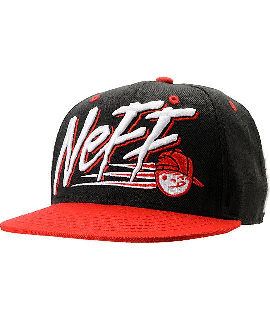 Neff Dash Black & Red Snapback Hat