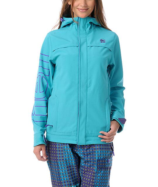 Neff Dia Teal 10K Softshell Snowboard Jacket