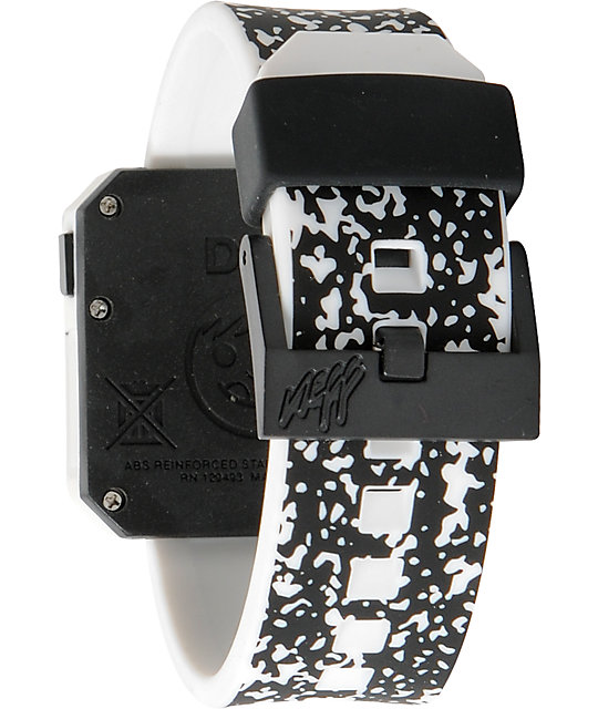 Neff Digi Black & White Speckle Digital Watch