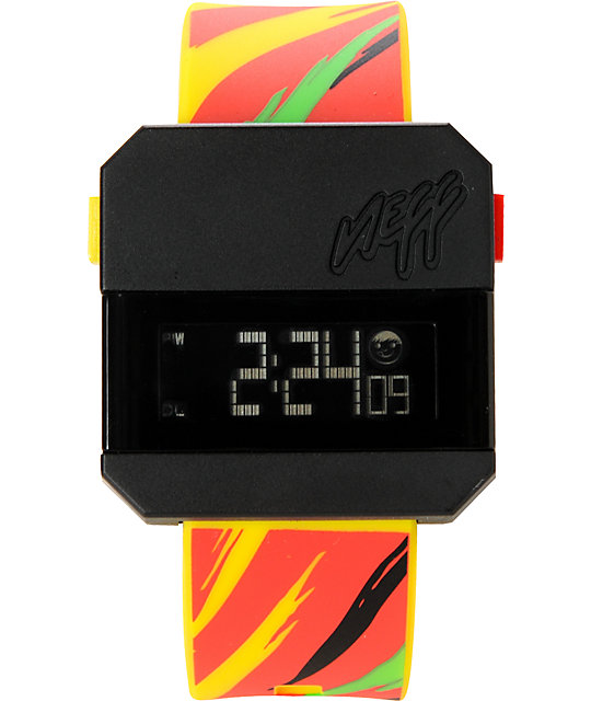 Neff Digi Perf Rasta Digital Watch