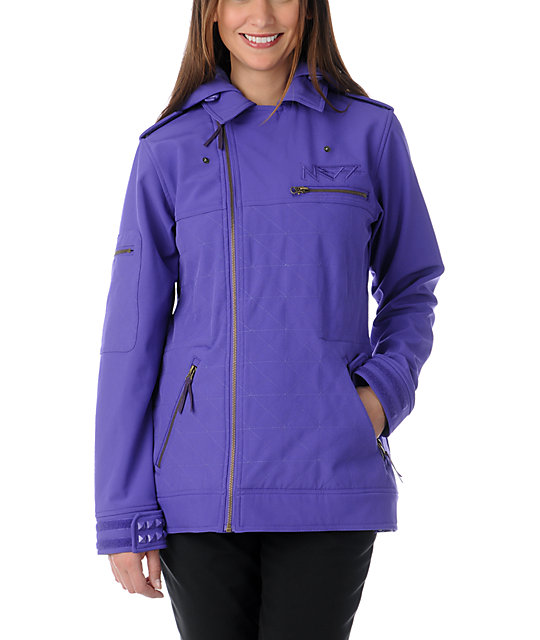 Neff Dre Purple 10K Softshell Snowboard Jacket