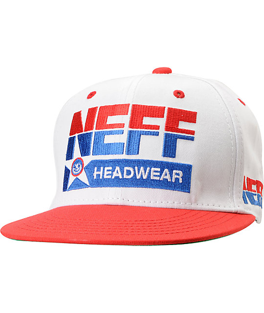 Neff Dream White & Red Snapback Hat