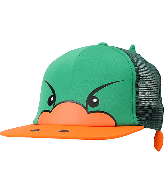 Neff Duck Green Snapback Trucker Hat