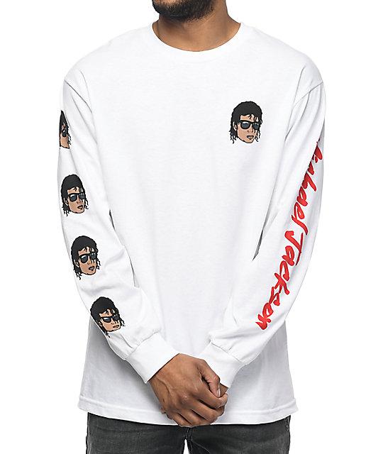Neff Emoji Michael Jackson White Long Sleeve T-Shirt
