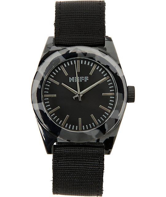 Neff Estate Black Camo Analog Watch