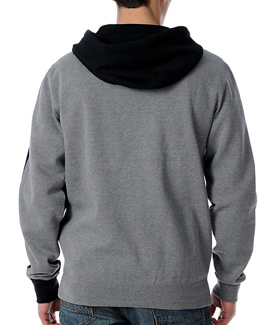 Neff Fader Grey Zip Up Hoodie
