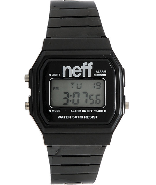 Neff Flava Black Digital Watch