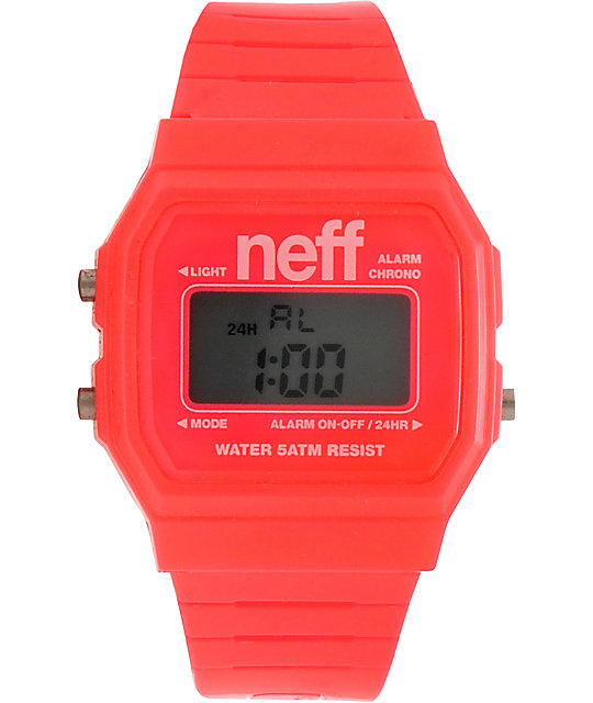 Neff Flava Pink Digital Watch