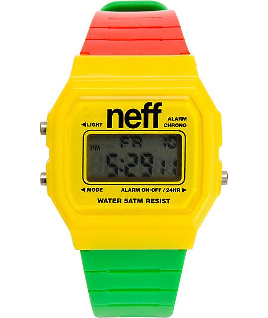 Neff Flava Rasta Digital Watch