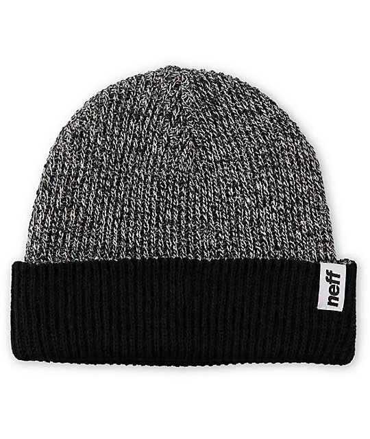 Neff Fold Black & Grey Reversible Beanie