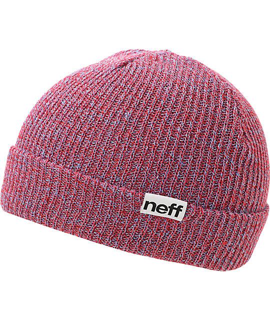 Neff Fold Red & Blue Beanie