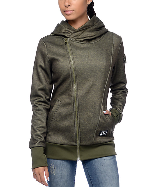 Neff Francesca Olive Tech Fleece Jacket