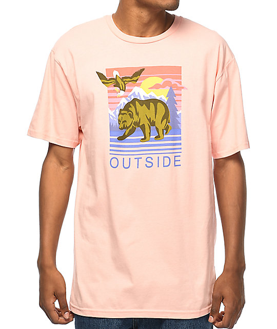 Neff Go Outside Peach T-Shirt