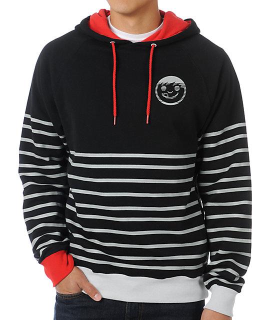 Neff Gomez Black Stripe Pullover Hoodie