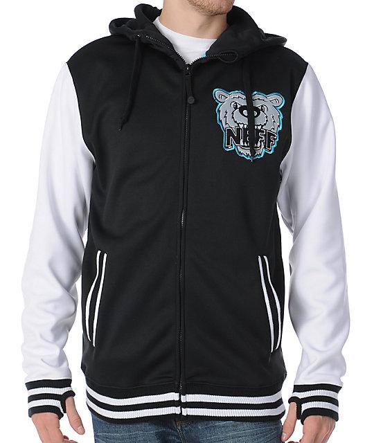 Neff Grizzly Shred Black Mens Tech Fleece Jacket