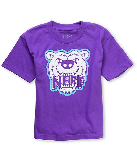Neff Growly Boys Purple T-Shirt