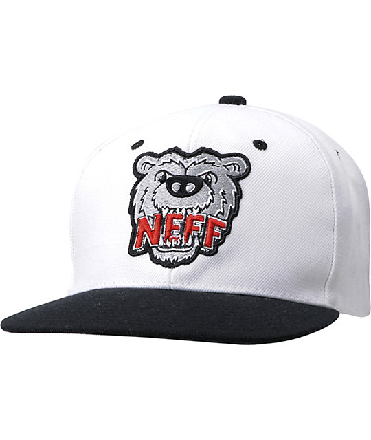 Neff Growly White & Black Snapback Hat