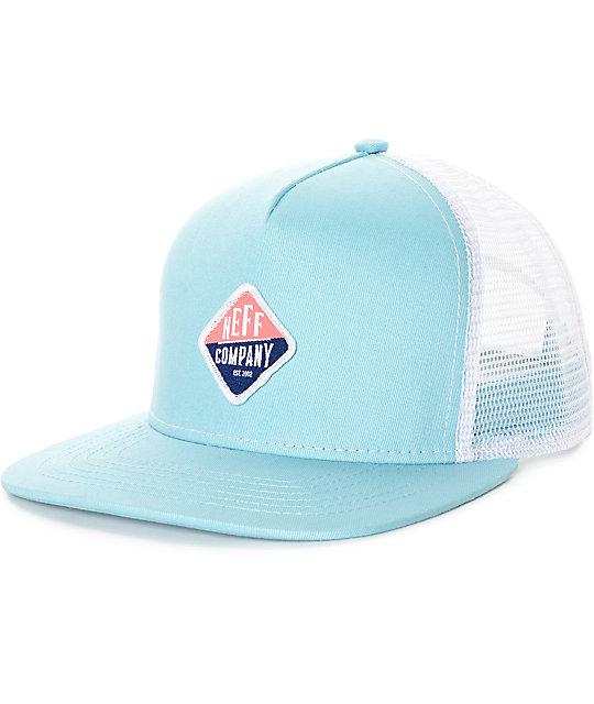 Neff Heidi Light Blue Trucker Hat
