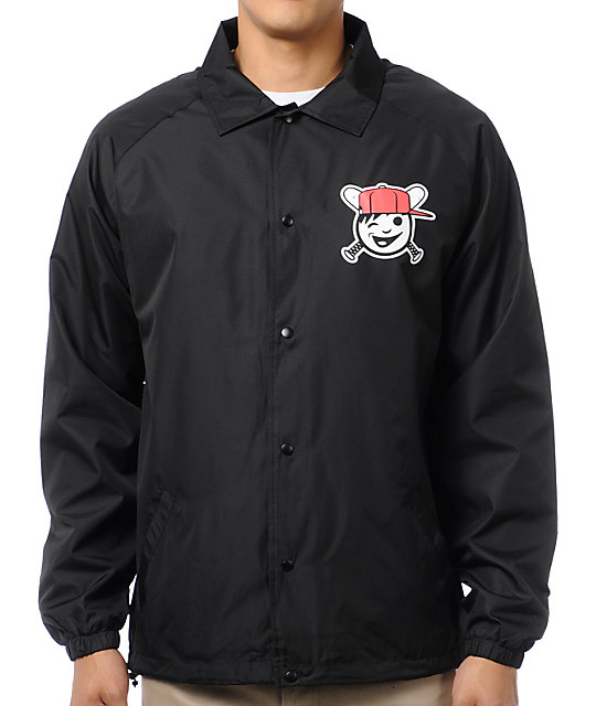 Neff Hitter Black Windbreaker Coach Jacket | Zumiez