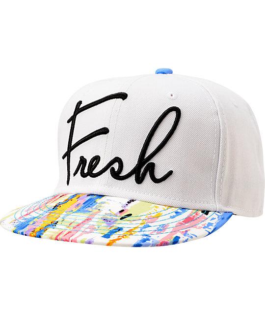 Neff Ill White & Printed Snapback Hat