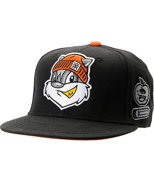 Neff JV Black Snapback Hat