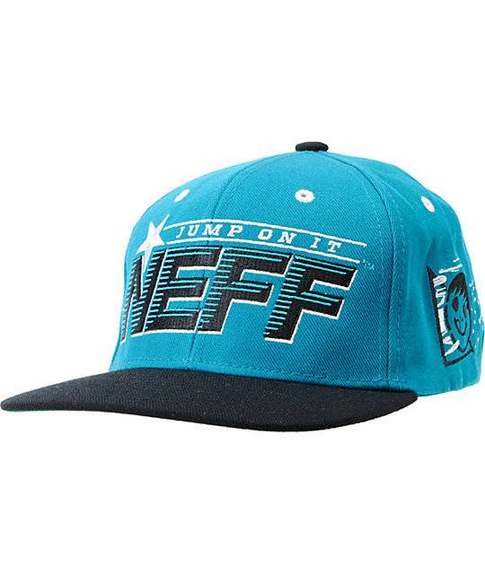 Neff Jump On It Turquoise Snapback Hat