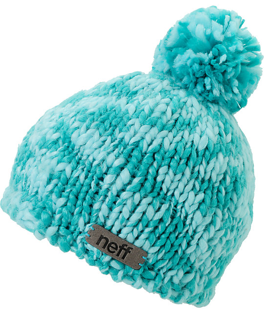 Neff June Ceramic Teal Pom Beanie