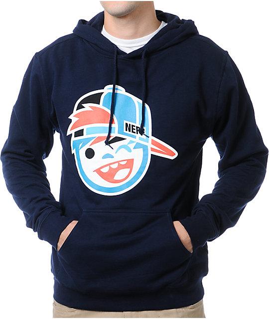 Neff Kapper Navy Blue Pullover Hoodie