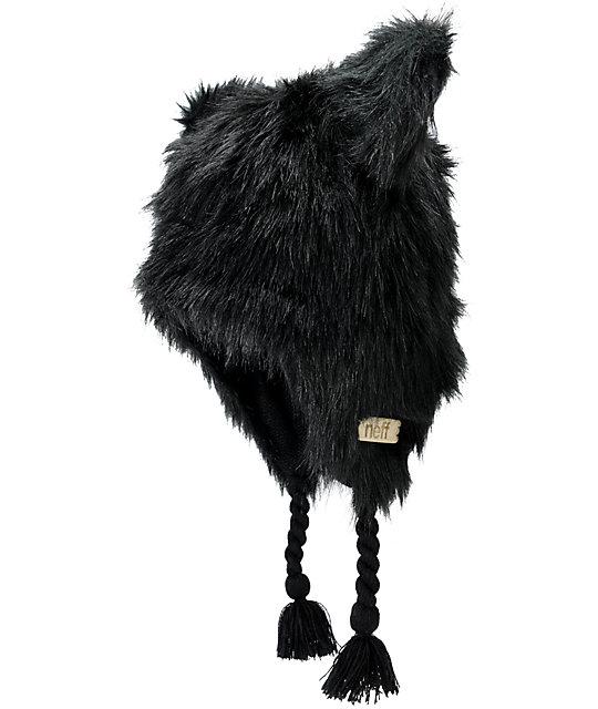 Neff Little Fur Black Beanie