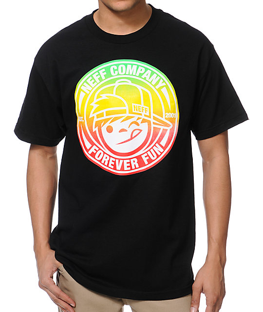 Neff Lockenni Black T-Shirt