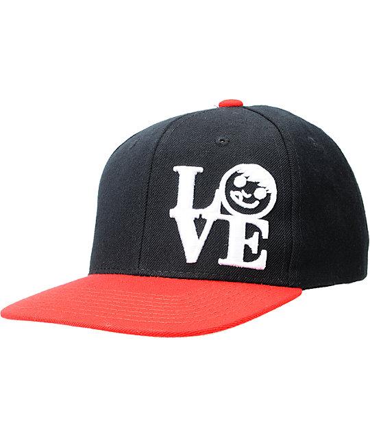 Neff Love Black & Red Snapback Hat