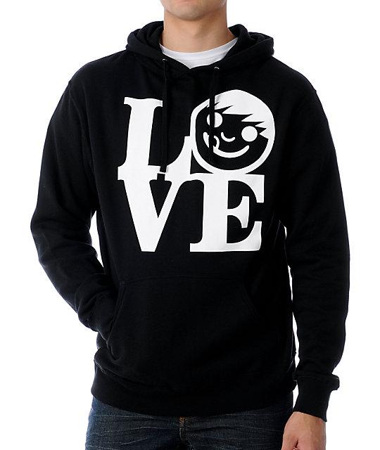 Neff Love Black Pullover Hoodie