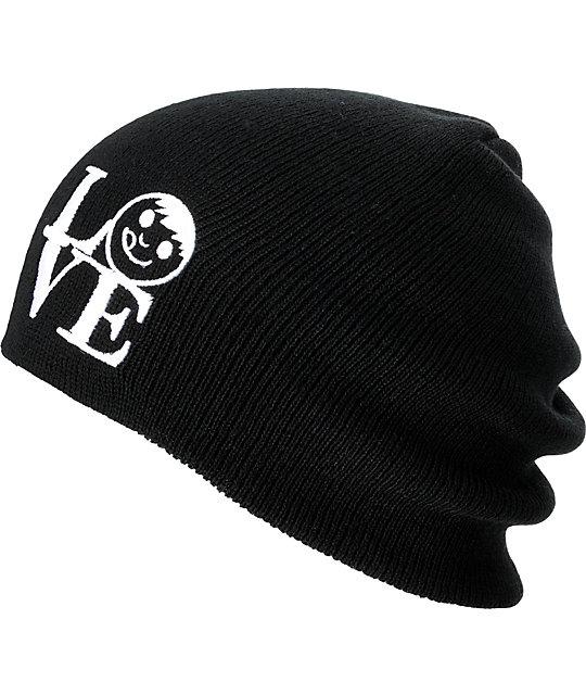 Neff Love Black Slouchy Beanie