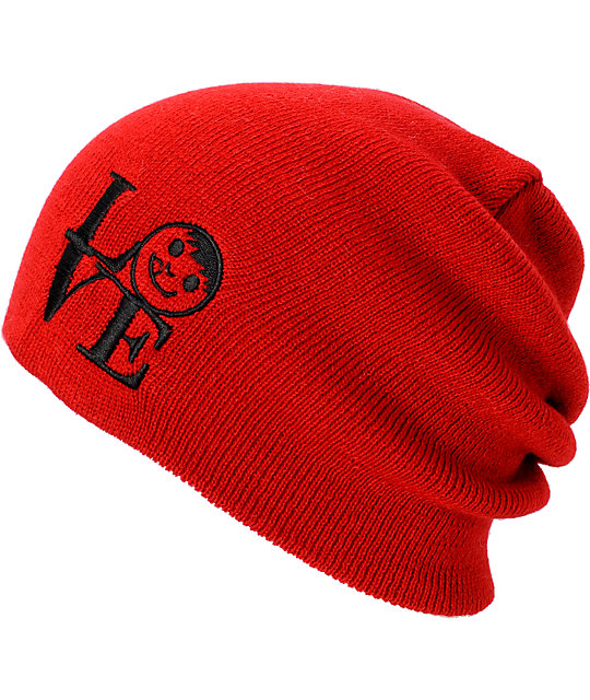 Neff Love Red Slouchy Beanie
