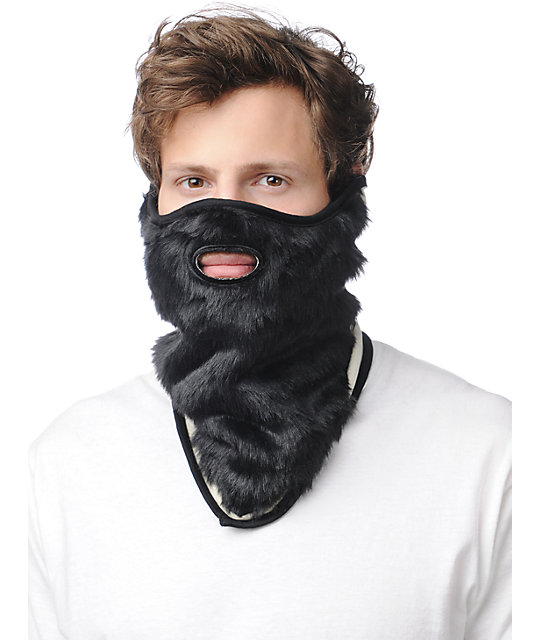 Neff Lumberjack Black Beard Face Mask Bandana