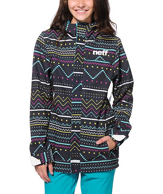 Neff Lush Black 10K Softshell Snowboard Jacket 2016
