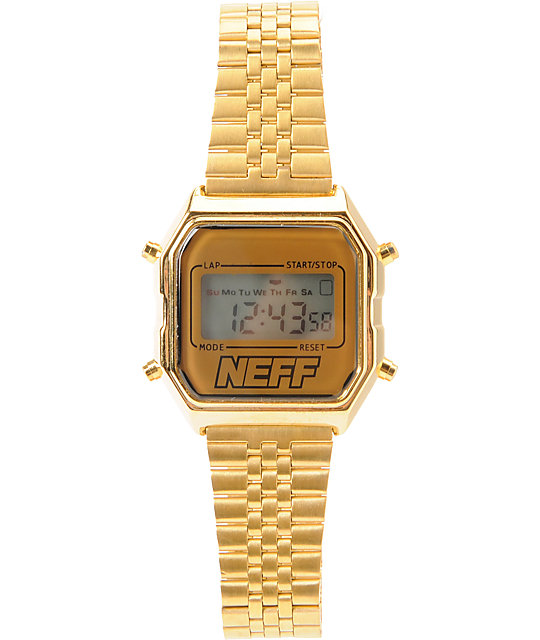 Neff Lux Digital Gold Watch
