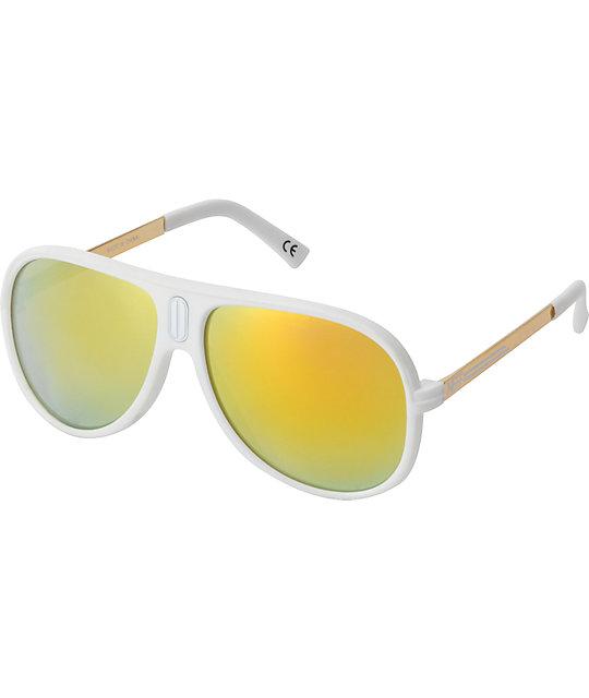 Neff Malibu White & Gold Polarized Sunglasses