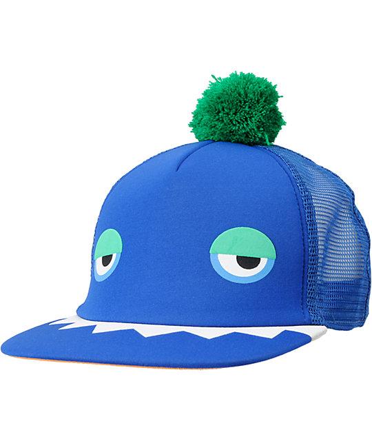 Neff Monster Blue Snapback Trucker Hat