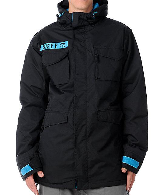 Neff N-65 10K Black Mens Snowboard Jacket