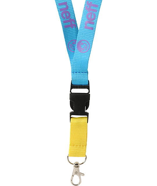 Neff Neffyard Blue & Purple Lanyard